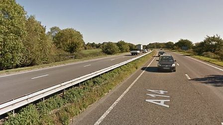 The lorry suffered the burst tyre near junction 45 Picture: GOOGLEMAPS