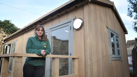 Jackie Byrnand at the new visitor centre in Abbey Gardens Picture:SARAH LUCY BROWN