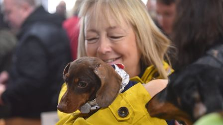The Southwold Sausage Dog walk was hit by extreme weather in October Picture: JAMIE HONEYWOOD