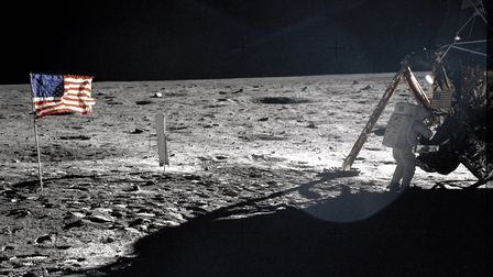 This July 20, 1969 file photo provided by NASA shows Apollo 11 astronaut Neil Armstrong on the lunar