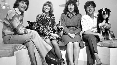 A 1972 photo of the Blue Peter team. The show has inspired generations to take up crafts. Picture: P