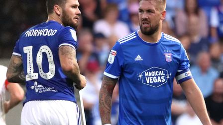 James Norwood and Luke Chambers are set to return for Ipswich Town this weekend. Picture: ROSS HALLS
