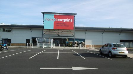 The Home Bargains store at Suffolk Retail Park in Ipswich, which opened this year. Picture: DAVID VI