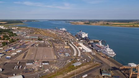 Harwich International Port is a major feature of the constituency. Picture: Hutchison Ports
