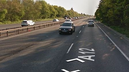 There is major traffic on the A12 following a multi-vehicle crash near Boreham Picture: GOOGLE MAPS