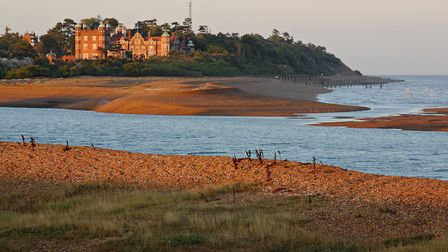 Bawdsey Manor seen in the late evening sun from the Felixstowe Ferry side of the River Deben Picture