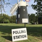 Thelnetham Windmill as a polling station for the first time in May 2019. Picture: WEST SUFFOLK COUNC