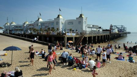 Water near Clacton Pier has again be deemed poor by the Environment Agency Picture: ANDREW PARTRIDGE