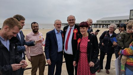 Jeremy Corbyn visited Lowestoft in 2017, but it didn't lead to a good result for Labour. Picture: GE