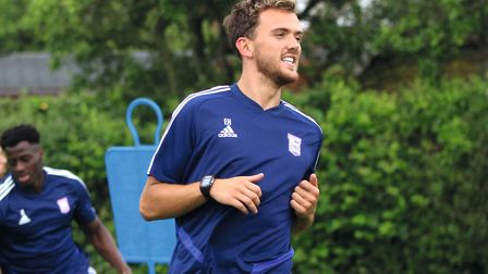 Emyr Huws returns to pre-season training for Ipswich Town Picture: ROSS HALLS
