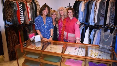 Anna Park, left, at her new flagship store with the Bury St Edmunds with the team, from second left,