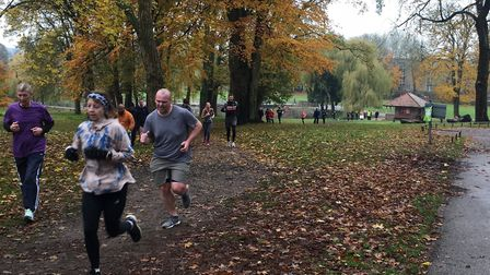 Runners negotiate the grassy uphill section at last Saturday's Luton Wardown parkrun. Picture: CARL