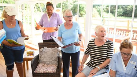 Volunteers, staff and residents are relishing raising the roof with their favourite songs in the new