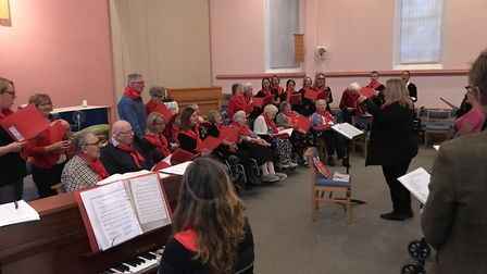 Pictures from last years concert of the Combined Care Homes Christmas Choir. Picture: SECKFORD FOUND