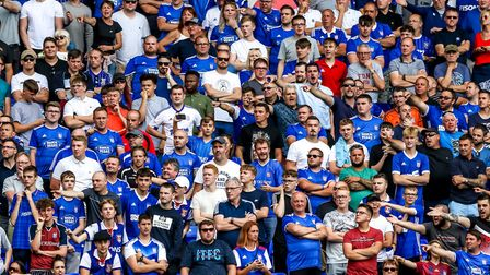 Ipswich fans at the Ipswich Town v Shrewsbury Town match. Picture: Steve Waller www.stephenwal