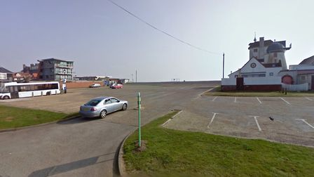 Fort Green car park in Aldeburgh, which has become a hotspot for car enthusiasts Picture: GOOGLE MAP