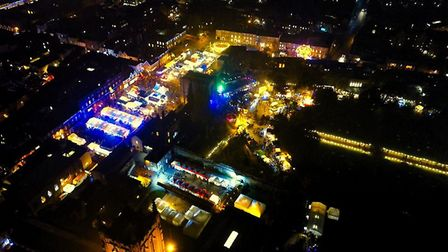 These beautiful photos show how magical the fayre is each year Pictures: SUFFOLK DRONE IMAGING AND