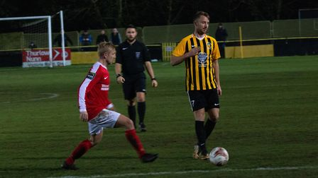Former Ipswich Town star Dean Bowditch made his Stowmarket Town debut in their 2-1 win over Mildenha