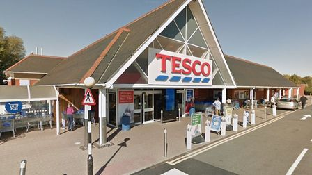 A dog has been struck by a car near the Tesco supermarket in Stowmarket Picture: GOOGLE MAPS