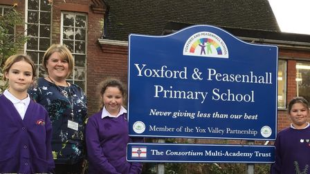 Yoxford and Peasenhall Primary is celebrating an Ofsted rating of good in all areas Picture: YOXFORD