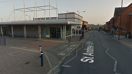 The assault happened outside the bus station in St Andrews Street North in Bury St Edmunds Picture: