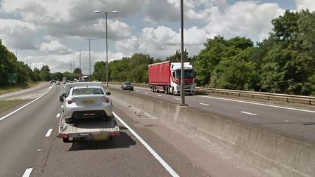 The crash happened on the A12 yesterdat just after 6pm Picture: GOOGLE MAPS