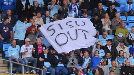 Coventry City fans protested for a long time against owners SISU. Photo: PA