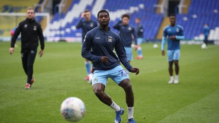 Amadou Bakayoko has been leading the line for Coventry City. Photo: PA