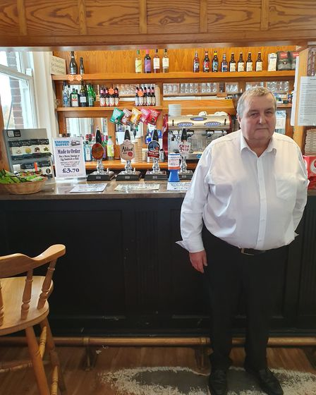 Paul Sankey owns the Station Buffet in Manningtree Railway Station is under threat from a new busine