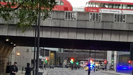 Ipswich woman Jane Berry had to get off her London bus after the incident at London Bridge: JANE BER
