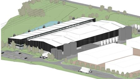 Artist's impression of the new EDME premises at Horsley Cross, Mistley Picture: EDME