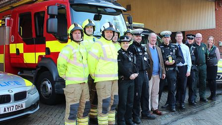 Suffolk police's annual Christmas drink and drive crackdown was launched with partners on Monday Pic