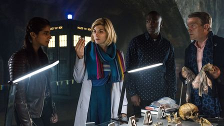 Doctor Who returns early in the New Year with a darker, more atmospheric look. l to r: Yaz (MANDIP