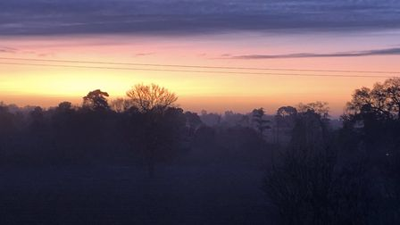 The sunrise at Thorpeness Picture: CHARLOTTE TEAGER