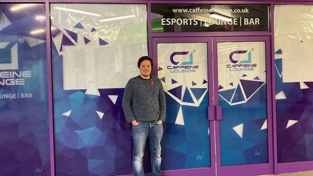 Caffeine Lounge boss William Ward outside the Borehamgate site that is home to Caffeine Lounge gamin