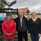 Pauline, Roger and Shelly Dixon at Barn Owl Meadow Picture: BARN OWL MEADOW