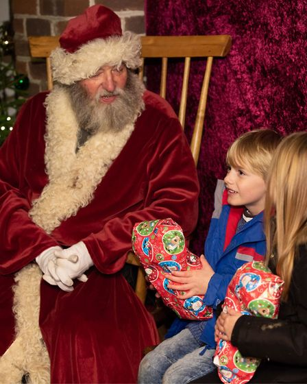 Father Christmas has taken up residence at Kentwell Hall as part of their Dickensian Christmas exper