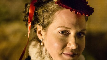 Mrs Bence, the mistress of Kentwell Hall, in 1869 for Kentwell's Dickensian Christmas experience Pho