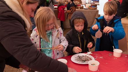 Craft workshops are part of the fun at Kentwell Hall's Christmas experience Photo: Paul Sillence