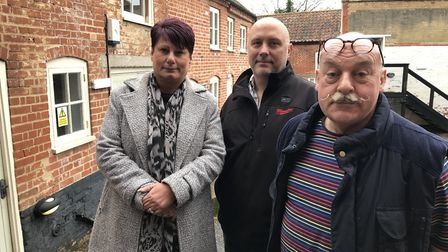 Business owners in Miles Ward Court. From left to right: Alison Clarke, Perfect 10 Nails, Dustin Fje