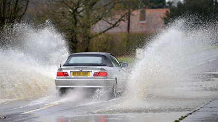 Flooding is causing major issues across Suffolk this morning. File picture. Picture: SARAH LUCY BROW