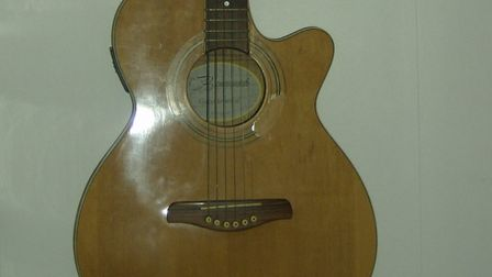 The guitars were stolen from a business in Mildenhall. Picture: SUFFOLK CONSTABULARY