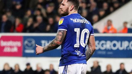 James Norwood pictured during Town's 0-0 draw with Wycombe at Portman Road Photo: ROSS HALLS