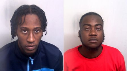Calvin Armstrong, 22, left, and Donald Adu, 25 who have been jailed for the stab attack on Leon Sob