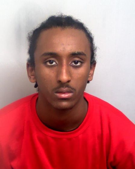 Ermias Yohannes, aged 16, who has been jailed at Ipswich Crown Court for the stabbing of Leon Sobers