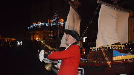 The town's crier also made an appearance in the Illuminate Festival parade Picture: WILL LODGE