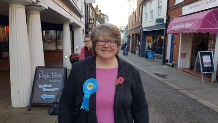 Therese Coffey is one of two cabinet members defending Suffolk seats. Picture: PAUL GEATER