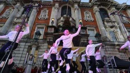 Colchester's 2019 Christmas lights switch on. Dancers from The Company perform. Picture: STEVE BRADI