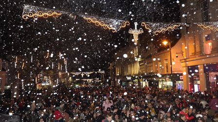 Colchester's 2019 Christmas lights switch on. Picture: STEVE BRADING