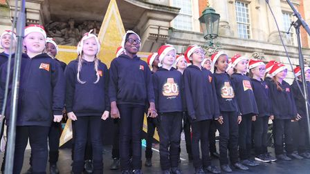 Colchester's 2019 Christmas lights switch on. Stageocoach Colchester performing, Picture: STEVE BRAD